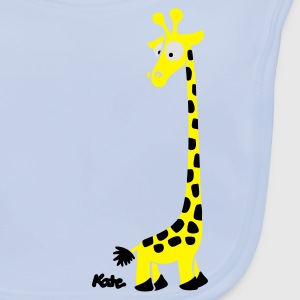 Light blue Giraffe (c) Kids' Shirts - Baby Organic Bib