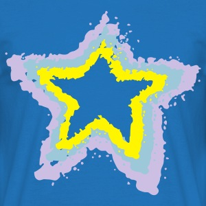 Royal blue 3 stars, overspray of paint  Aprons - Men's T-Shirt