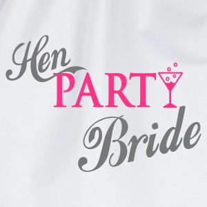 Weiß hen party bride T-Shirts - Turnbeutel