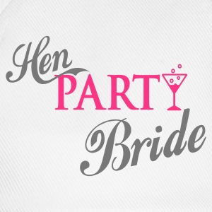 Weiß hen party bride T-Shirts - Baseballkappe