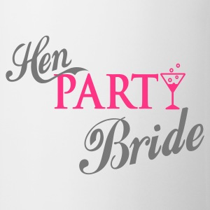 Weiß hen party bride T-Shirts - Tasse