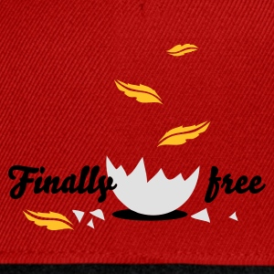 Rouge finally_free T-shirts Enfants - Casquette snapback