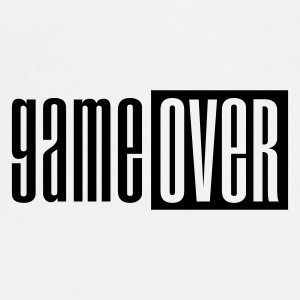 Blanc Game over deluxe Tasses - T-shirt Premium Homme