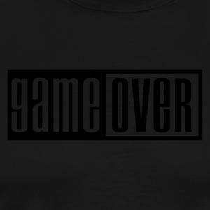 Black game over outline  Aprons - Men's Premium T-Shirt