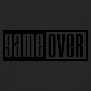 Sort game over outline Kasketter & Huer - Herre premium T-shirt med lange ærmer