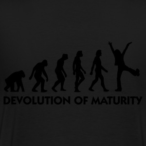 Black Devolution of Maturity (1c) Hoodies & Sweatshirts - Men's Premium T-Shirt