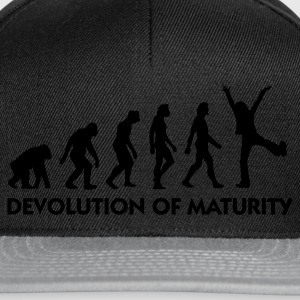Black Devolution of Maturity (1c) Hoodies & Sweatshirts - Snapback Cap
