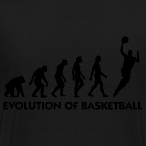 Schwarz Evolution of Basketball 2 (1c) Pullover - Männer Premium T-Shirt