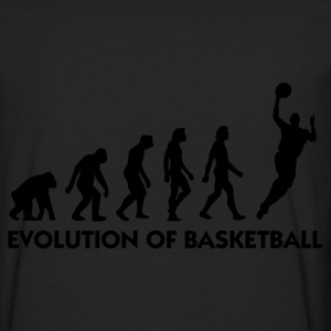 Negro Evolution of Basketball 2 (1c) Sudadera - Camiseta de manga larga premium hombre