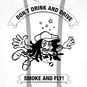 White why drink and drive smoke and fly Men's T-Shirts - Men's Premium Hoodie
