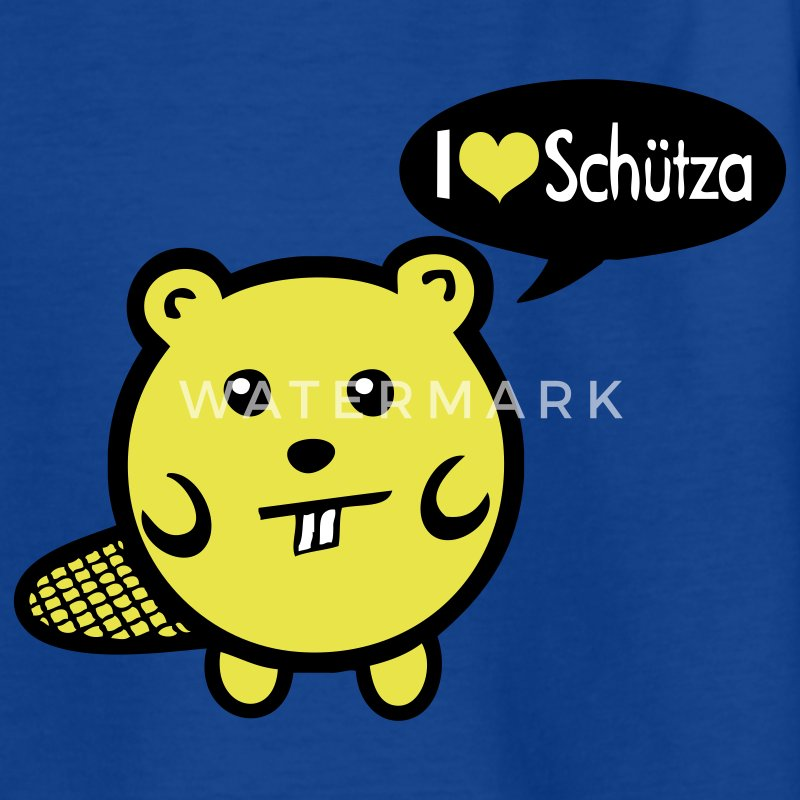Mr. Biber I love Schütza - Teenager T-Shirt