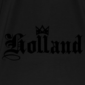 Svart/vit Holland with crown Väskor - Premium-T-shirt herr