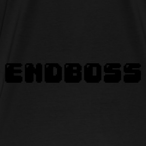 Black/white endboss retro pixel gamer Bags  - Men's Premium T-Shirt