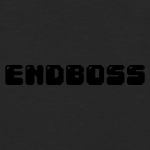 Black endboss retro pixel gamer Underwear - Men's Premium Longsleeve Shirt