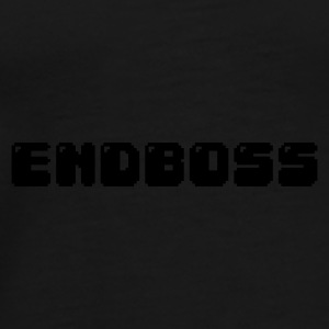 Black endboss retro pixel gamer Caps & Hats - Men's Premium T-Shirt