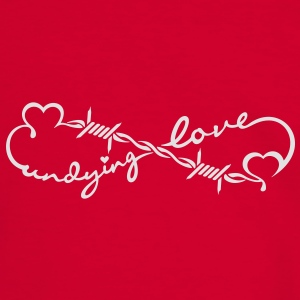 undying love (Stacheldraht / barbed wire, 1c) Bags  - Men's Ringer Shirt
