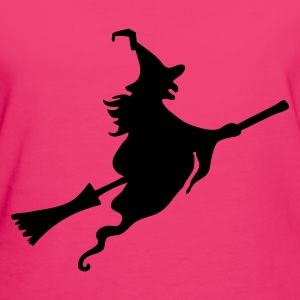 Witch with broom Bags  - Women's Organic T-shirt