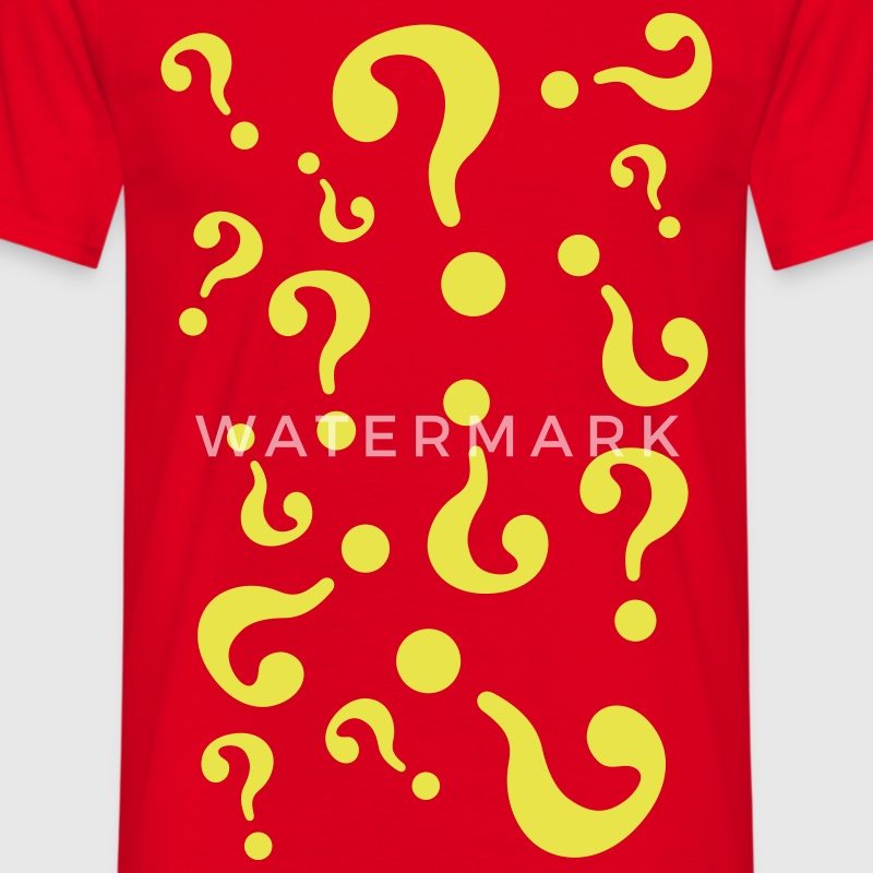 Red question marks Men's T-Shirts - Men's T-Shirt