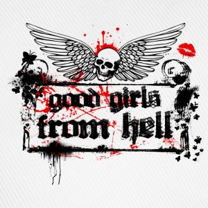 Weiß Good Girls From Hell Girlie - Baseballkappe