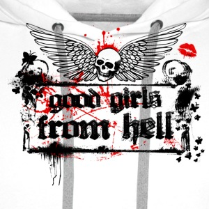 Weiß Good Girls From Hell Girlie - Männer Premium Hoodie