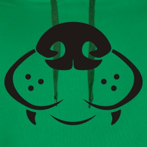 Grass green dog nose T-Shirts - Men's Premium Hoodie