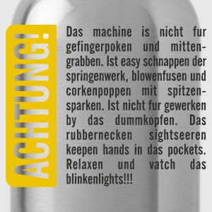 Sky Achtung! T-Shirts - Water Bottle