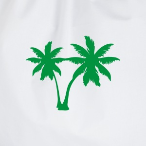 White palm trees Ladies' - Drawstring Bag