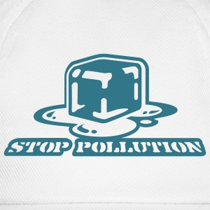 Weiß Stop Pollution Girlie - Baseballkappe