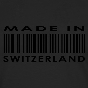 Nero Made in Switzerland / Svizzera Donna - Maglietta Premium a manica lunga da uomo