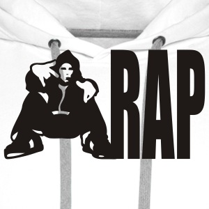 White rap Ladies' - Men's Premium Hoodie