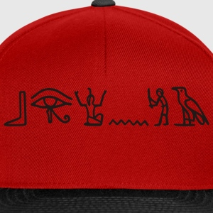 Red hieroglyphics Ladies' - Snapback Cap