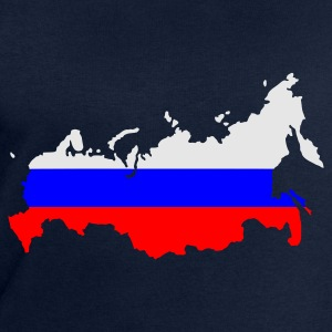 Navy Russia flag map Ladies' - Men's Sweatshirt by Stanley & Stella