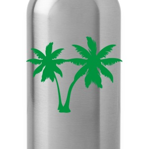 Yellow palm trees T-Shirts - Water Bottle