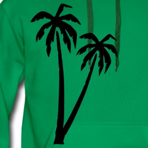 Grass green Palms T-Shirts - Men's Premium Hoodie