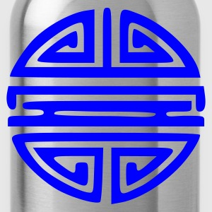Aqua Chinese Sun Symbol Immortality Ladies' - Water Bottle