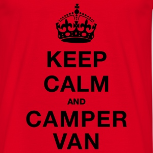 Red Keep Calm and Campervan Bags  - Men's T-Shirt