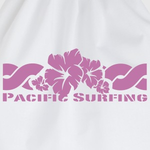 Weiß Pacific Surfing Girlie - Turnbeutel