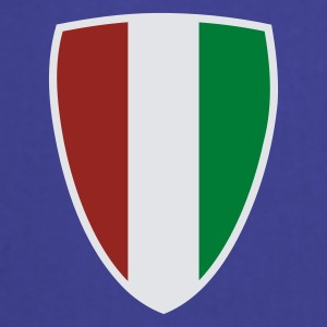 Azul intenso Italian Shield camiseta - Delantal de cocina