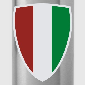 Azul intenso Italian Shield camiseta - Cantimplora