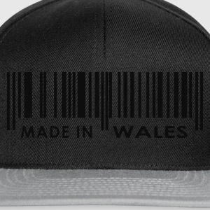 Black Made in Wales bar code Ladies' - Snapback Cap