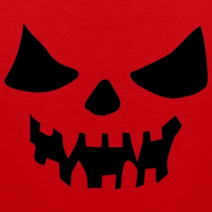 Red scary face Ladies' - Men's Premium Tank Top