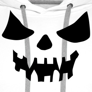 White scary face Ladies' - Men's Premium Hoodie