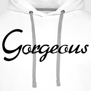 Bianco Gorgeous - Pretty - Beautiful T-shirt (maniche corte) - Felpa con cappuccio premium da uomo