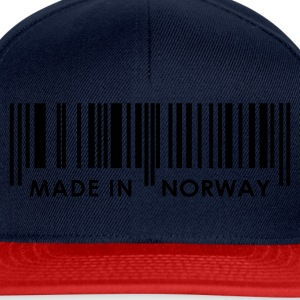 Marineblå Stregcode Made in Norway / Norge Damer - Snapback Cap