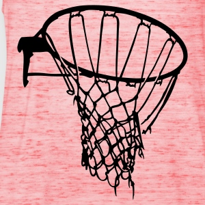 Geel basket net raw basketball T-shirts (korte mouw) - Vrouwen tank top van Bella