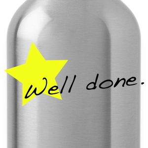 Grass green Well done star T-Shirts - Water Bottle