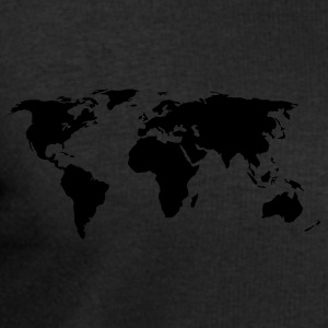 Black World Map Ladies' - Men's Sweatshirt by Stanley & Stella