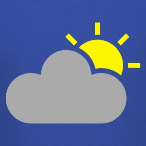 Sky weather symbol - sun & cloud T-Shirts - Kids' Premium Hoodie