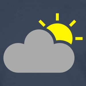 Sky weather symbol - sun & cloud T-Shirts - Men's Premium Longsleeve Shirt