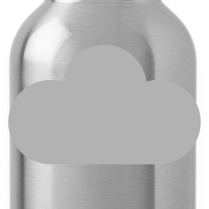 Brown weather symbols - cloud T-Shirts - Water Bottle